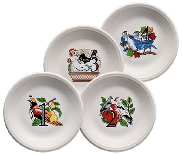 Fiesta Twelve Days Of Christmas Salad Dessert Plates Series 1