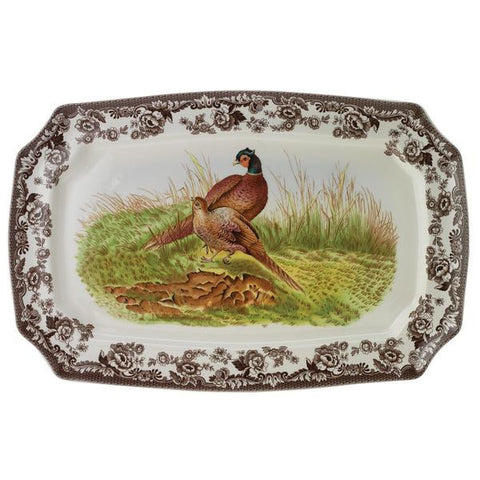 Spode Woodland Scalloped Rectangular Platter