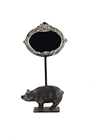 Cast Iron Pig with Chalkboard