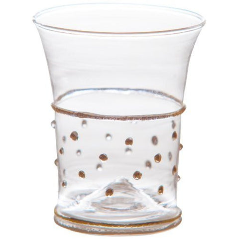 Glass Tumblers with Gold  Dots