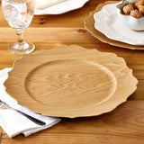 Scalloped Wood Veneer Charger
