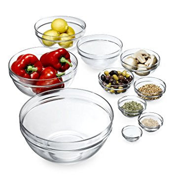 Luminarc Glass Mixing Bowl Set