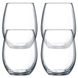 Luminarc Stemless Wine Glasses, Set of 4, 15 oz.
