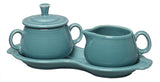 Pryde's Fiesta Sugar & Cream Tray Set in Turquoise