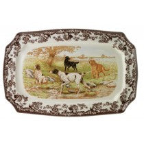 Spode Woodland All Dogs Rectangular Platter, 17.5""