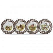 Spode Woodland Birds Canape Plates, Set of 4
