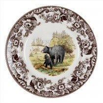 Spode Woodland Black Bear Dinner Plate, 10.5""