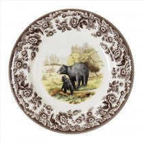 Spode Woodland Black Bear Salad Plate, 8""