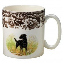 Spode Woodland Black Labrador Retriever Mug