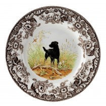 Spode Woodland Black Labrador Retriever Salad Plate, 8""