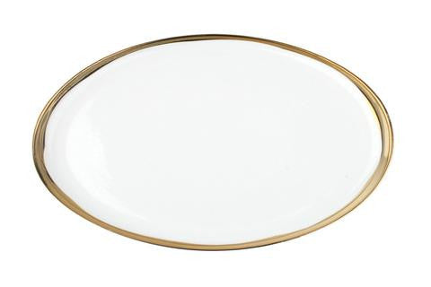 Dauville Oval Platters in Gold - Large
