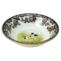 Spode Woodland Flat Coated Pointer Ascot Cereal Bowl, 8""