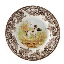 Spode Woodland Flat Coated Pointer Dinner Plate, 10.5""
