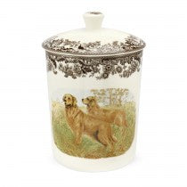 Spode Woodland Golden Retriever Medium Canister, 8""
