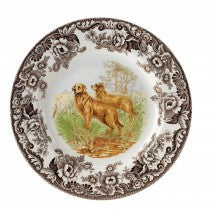 Spode Woodland Golden Retriever Salad Plate, 8""