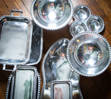 Metal Serving Pieces - With Decoration