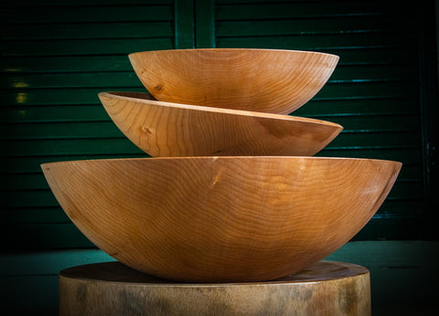 Hand-Crafted Wooden Salad Bowl