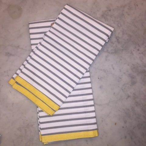 Towel - Gray and White Stripe