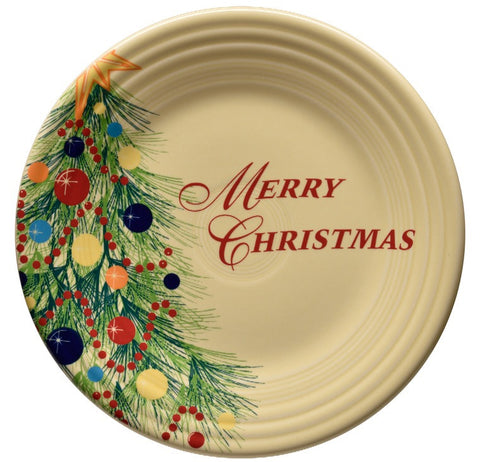 Fiesta Christmas Tree Merry Christmas Luncheon Plate