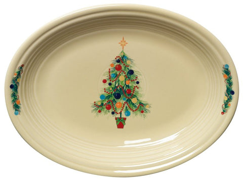 Fiesta Christmas Tree Medium Oval Platter