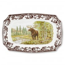 Spode Woodland Moose Rectangular Platter, 17.5""