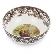 Spode Woodland Moose Round Salad Bowl, 9.75""