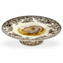 Spode Woodland Turkey Footed Cake Plate, 10.5""