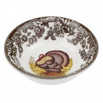 "Spode Woodland Turkey Mini Bowls, 5"", Set of 4"