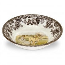 Spode Woodland Yellow Labrador Retriever Ascot Cereal Bowl, 8""