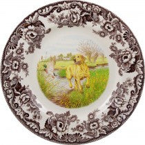 Spode Woodland Yellow Labrador Retriever Dinner Plate, 10.5""