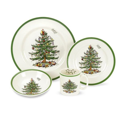 Spode Christmas Tree Dinnerware -  4 Piece Place setting