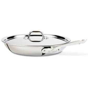 All-Clad Stainless Steel 12-Inch Covered Fry Pan