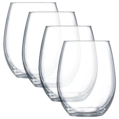 Luminarc Stemless Wine Glasses, Set of 4, 21 oz.