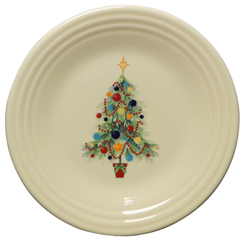 Fiesta Christmas Tree Luncheon Plate