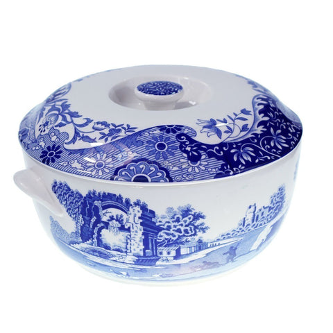Spode Blue Italian Round Covered Deep Dish Casserole