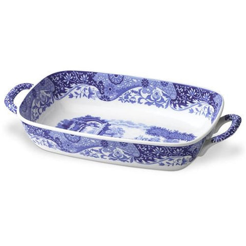 Spode Blue Italian Oval Serving Dish With Handles