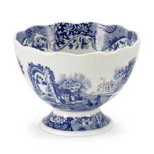 Spode Blue Italian Footed Compote