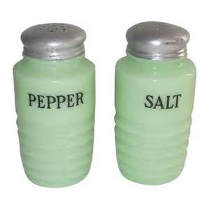 Jadeite Salt & Pepper Set