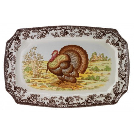 Spode Woodland Turkey Rectangular Platter, 17.5""