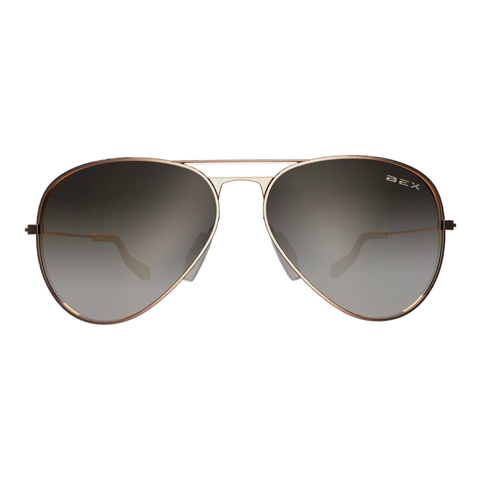 ROSE GOLD/BROWN WESLEY SUNGLASSES