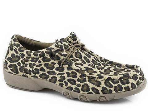 LADIES LEOPARD CHILLIN SHOE