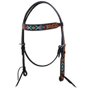 VEGAS BEADED BROWBAND HEADSTALL