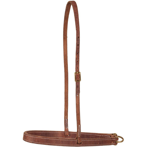 FLAT OILED LEATHER NOSEBAND