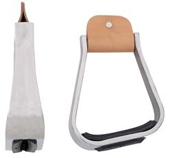 SLOPED ALUMINUM STIRRUP W/ RUBBER PAD