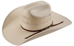 FANCY DIAMOND VENT IVORY AMERICAN STRAW HAT