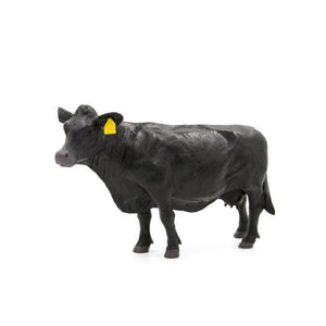BLACK ANGUS COW TOY