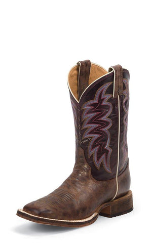 LADIES YANCEY BURGANDY SQUARE TOE BOOT