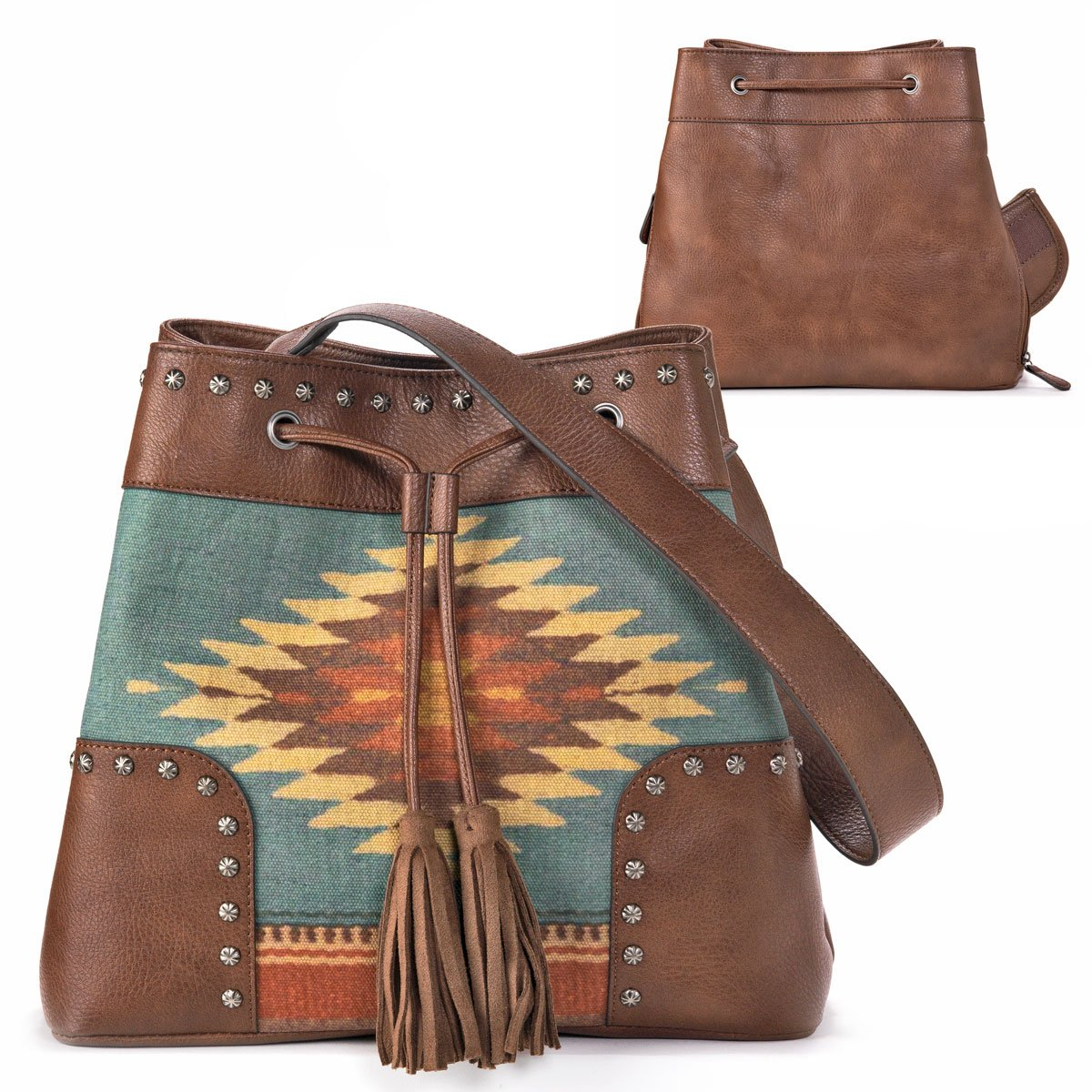 ZAPOTEC CONCEALED CARRY BUCKET PURSE