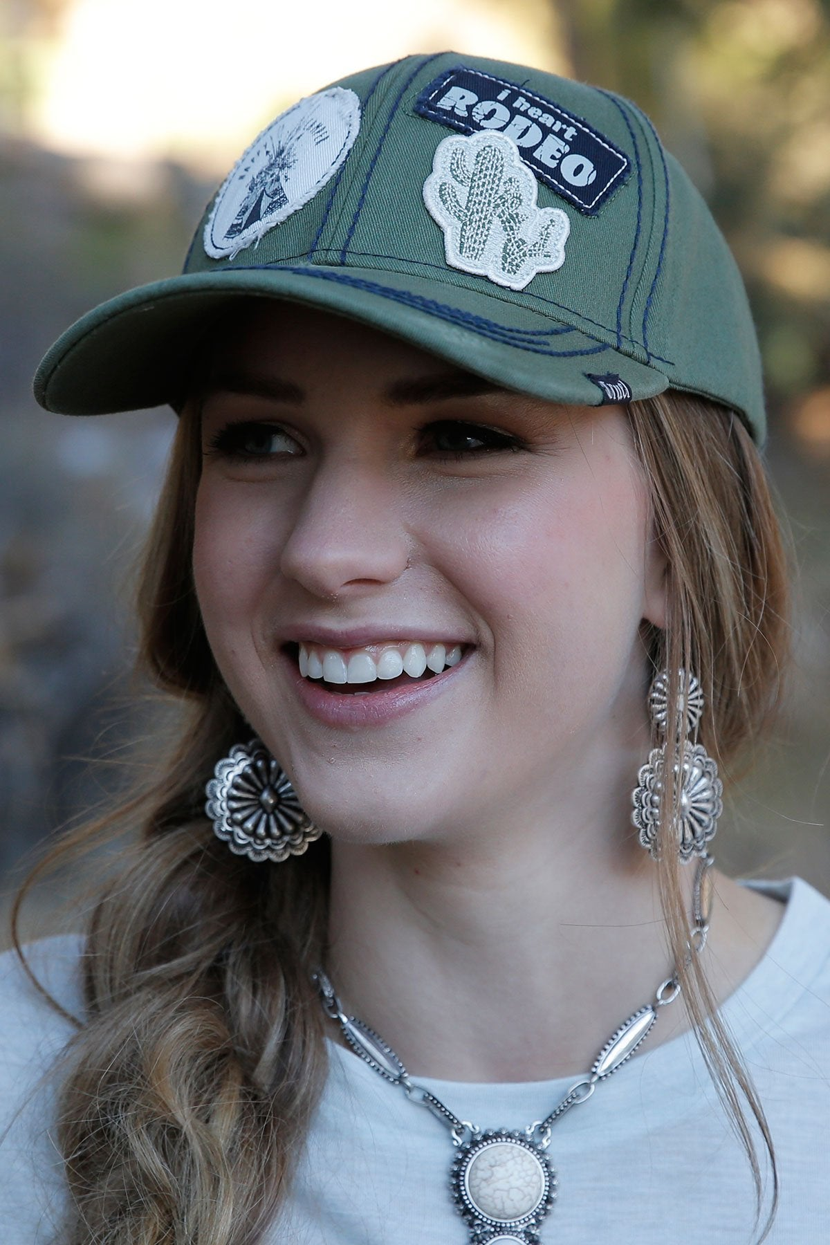 LADIES OLIVE CINCH CAP