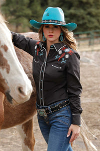 LADIES SNAP LONG SLEEVE SHIRT